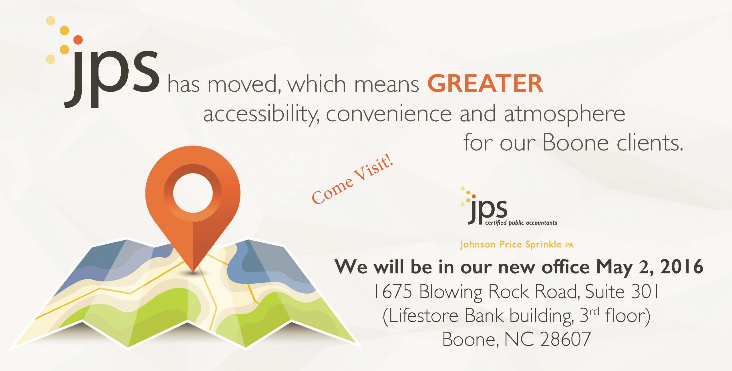 New JPS Boone Office Location Come Visit