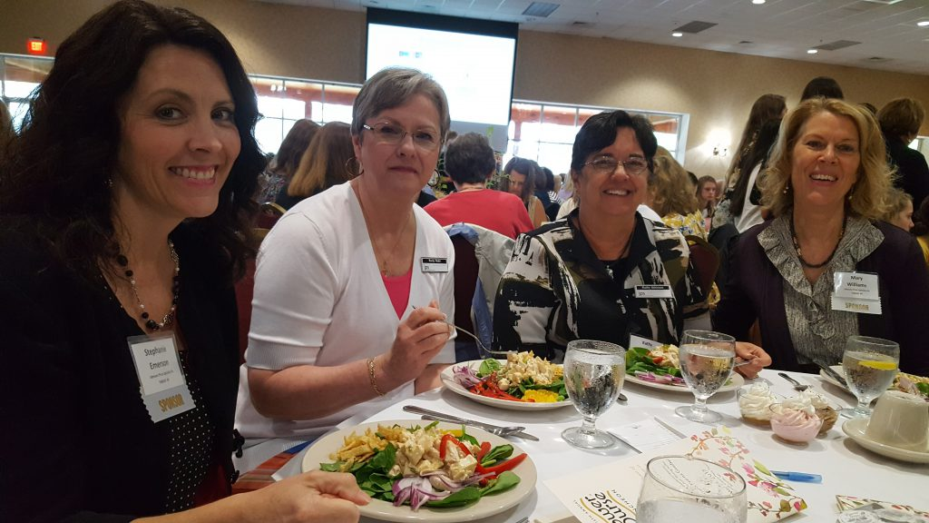 JPS Stephanie Emerson, Rocky Redd, Kathy Atkinson, Mary Williams at 2017 Power of the Purse _ JPS cpa accounting firm gold sponsor