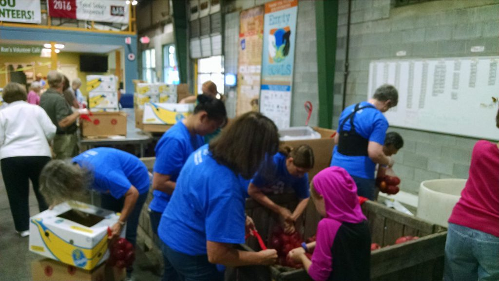 JPS volunteering at MANNA Food Bank ~ NCACPA Day of Service 2017