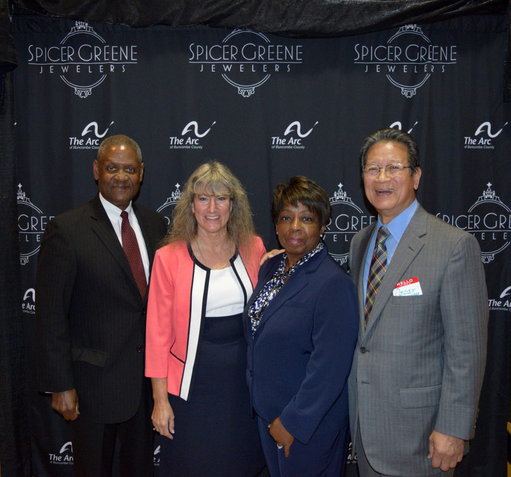 Virgil Smith, Dorinda Bennett, Joann Smith, Oscar Wong at The ARC of Buncombe County's 60th Anniversary Celebration