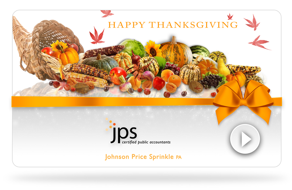 Happy Thanksgiving from all of us at JPS